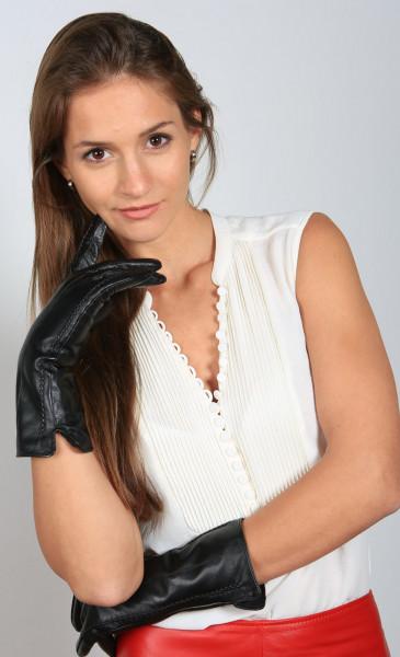 Lederhandschuhe in schwarz Größe XL