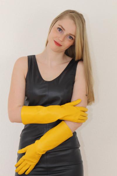 40 cm Lederhandschuhe, Größe XXL, gelb, Operagloves