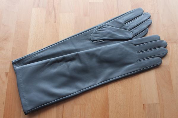 40 cm Lederhandschuhe, Größe XXL, grau/anthrazit, Operagloves