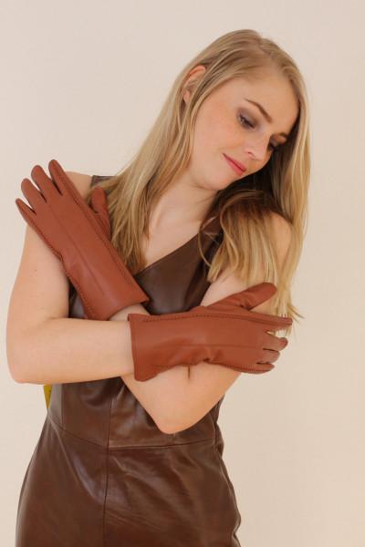Lederhandschuhe in mittelbraun Größe XXL