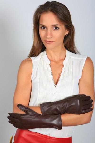 Lederhandschuhe in dunkelbraun Größe XL