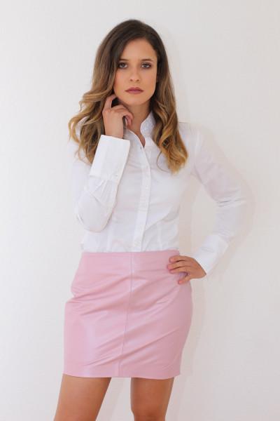Mini - Lederrock in pink Größe 38, Nappaleder