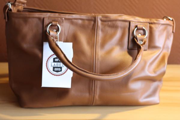 Handtasche, braun, Model 2, Rindsleder
