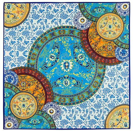 Satintuch, Muster 1, Grö0e 90 x 90 cm, mehrfarbig