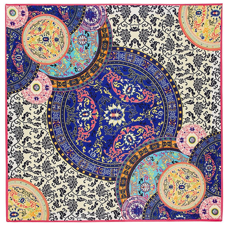 Satintuch, Muster 5, Grö0e 90 x 90 cm, mehrfarbig
