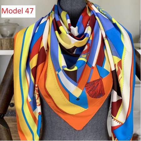 Model 47, Tuch 130x 130 cm, mehrfarbig, Seidentwill