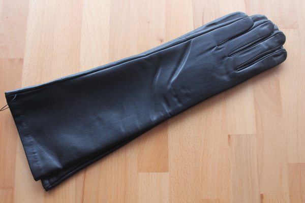 40 cm Lederhandschuhe, Größe XL, schwarz, Operagloves
