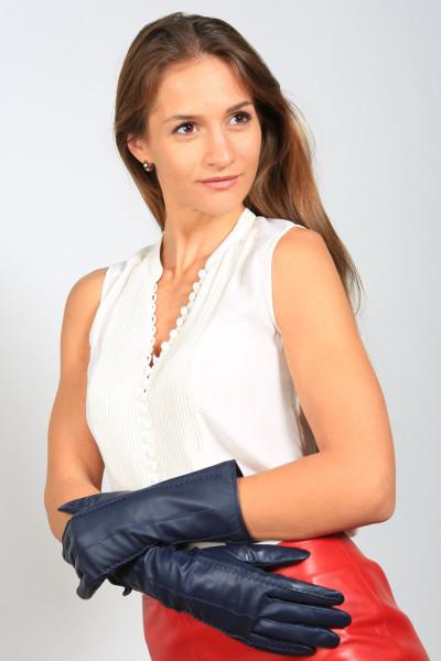 Lederhandschuhe in dunkelblau Größe XL