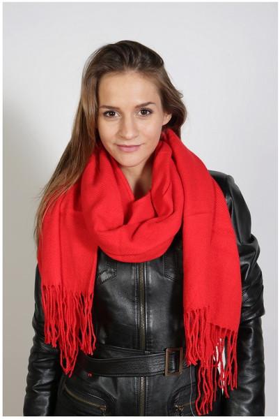 Schal , Größe 200 x 60 cm, Grundfarbe rot