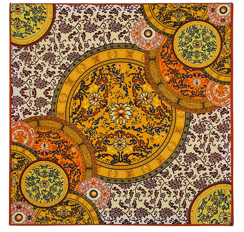 Satintuch, Muster 3, Grö0e 90 x 90 cm, mehrfarbig